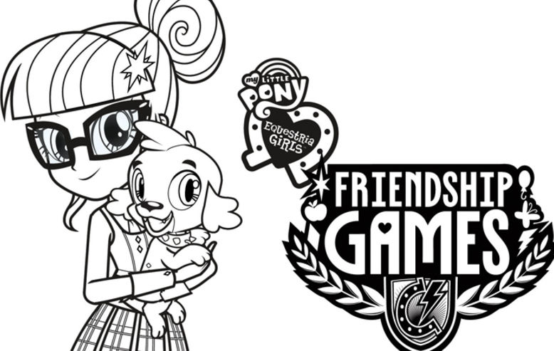 My Little Pony Equestria Girls: Friendship Games Coloring Sheets Shout!  Blog